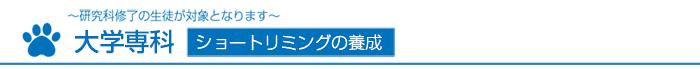 愛犬トリマー科/大学専科